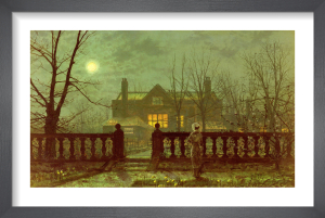 Lady in a Garden by Moonlight, 1882 by John Atkinson Grimshaw