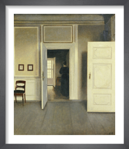 A Woman in an Interior, Strandgade 30, 1901 by Vilhelm Hammershoi