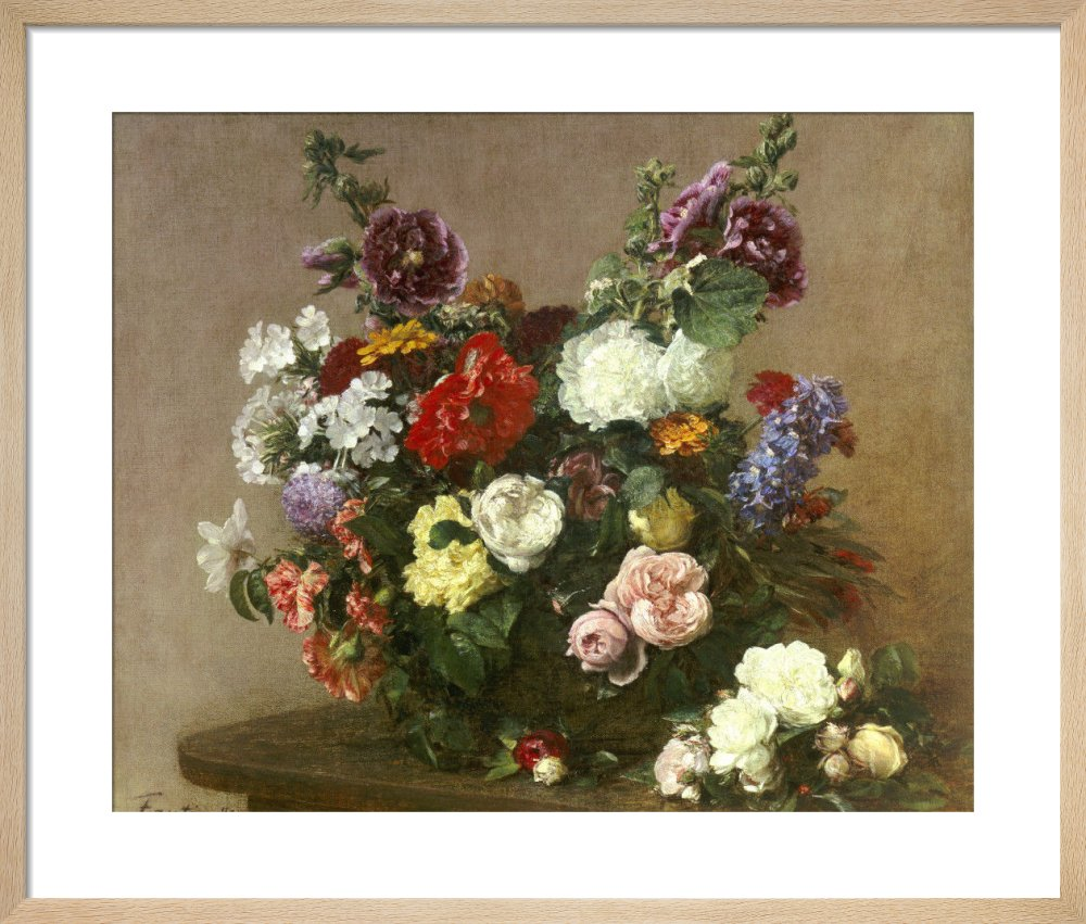 A Bouquet of Mixed Flowers, 1881 by Ignace-Henri-Théodore Fantin-Latour