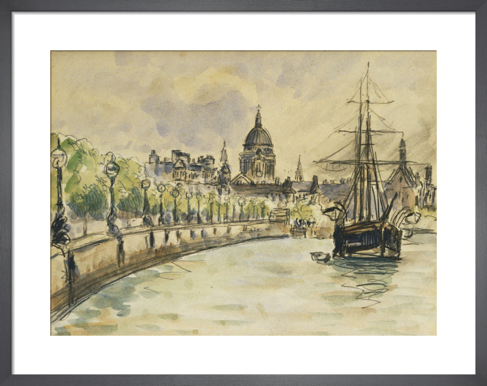 London - St.Paul's Cathedral, 1890 by Camille Pissarro