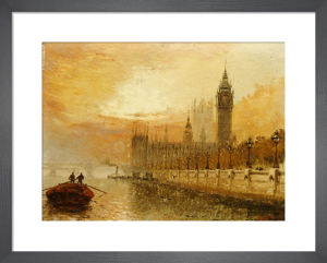 View of Westminster from the Thames by Claude Stanfield Moore