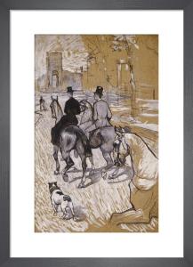 Riders on the Way to the Bois Du Bolougne, 1888 by Henri de Toulouse-Lautrec