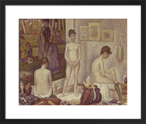 Les Poseuses (The Models), 1888 by Georges Seurat