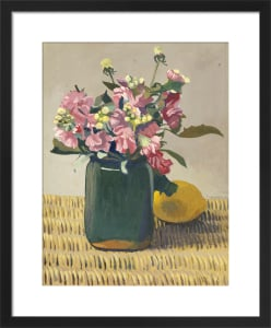 A Bouquet of Flowers and a Lemon, 1924 by Felix Vallotton