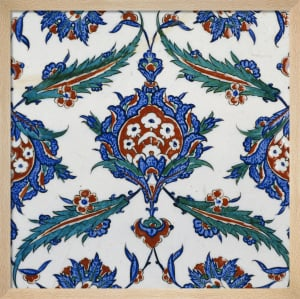 An Iznik Pottery Tile, c.1580 (I) by Anonymous