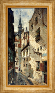 Rue Des Chartres, Old Paris by Edwin Deakin