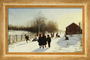 School's Out, 1882 by Samuel S. Carr