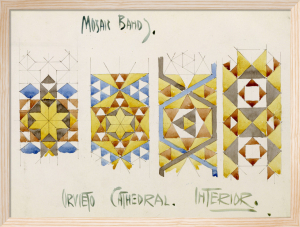Orvieto Cathedral - Studies of Mosaic Bands by Charles Rennie Mackintosh