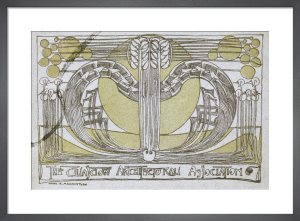 Conversazione Programme designed for the Glasgow Architectural Association, 1894 by Charles Rennie Mackintosh