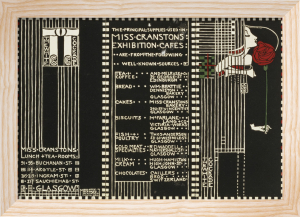 The White Cockade, Illustration For A Menu, 1911 by Margaret Macdonald Mackintosh