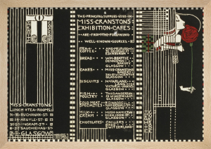 The White Cockade - Illustration for a Menu, 1911 by Margaret Macdonald Mackintosh