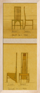 Design for Chairs for the Room De Luxe, Willow Tea Rooms, 1903 by Charles Rennie Mackintosh