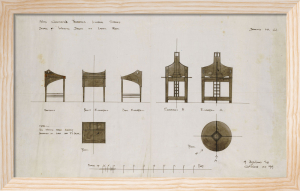 Designs for Writing Desks for The Ingram Street Tea Rooms, 1909 by Charles Rennie Mackintosh