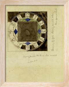 Design For Clock Face, 1917, For W.J. Bassett-Lowke, Esq. by Charles Rennie Mackintosh