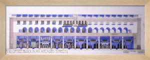 Previously Unrecorded Architectural Drawings for a Shop and Arcaded Street, c.1915 by Charles Rennie Mackintosh