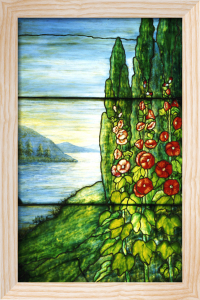 Lake Scene Window by Tiffany Studios