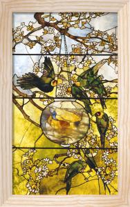 Parakeet Window by Tiffany Studios