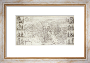 Aerial View Of Paris, 1615 by Christie's Images