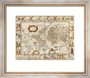 World Map, Novus Atlas, 1649 by Christie's Images