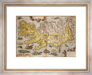 Map Of Iceland from 'Theatrium Orbis Terrarum Opus Nunc Denuo Ab Ipso', 1595 by Christie's Images