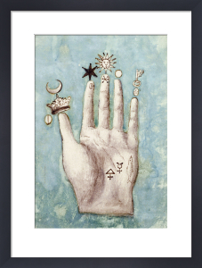 A Hand with Alchemical Symbols against the Fingers by Anonymous