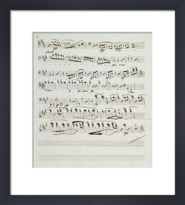 Copyists Manuscripts Of The Quartet In A Minor Opus 132 by Ludwig van Beethoven