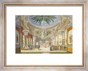 The Banqueting Room At The Royal Pavilion, Brighton, 1826 by John Nash