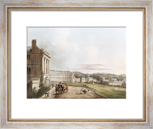 The Crescent from 'Bath Illustrated By A Series Of Views' by John Hill