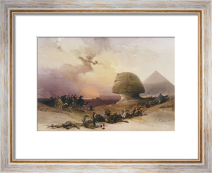 Approach Of The Simoom. Desert Of Gizeh from 'Egypt And Nubia' by David Roberts