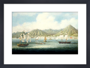 A View of Victoria, Hong Kong, with British Ships and Other Vessels, c.1850 by Anonymous