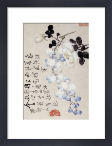 Roses And Wisteria. Paper Leaf From An Album Of Flower, Bird And Insect Paintings by Li Shan