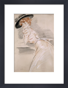 Madame Helleu in a Hat. Madame Helleu Au Chapeau by Paul-Cesar Helleu