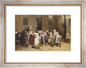 Le Retour De L'Ecole. Back To School by Henry Jules Jean Geoffroy
