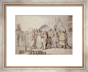 A Sale Of English Beauties In The East Indies, C. 1810 by Thomas Rowlandson