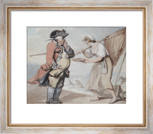 A Shrimp, Sir, 1799 by Thomas Rowlandson