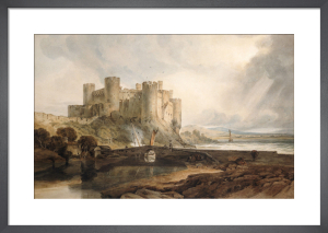 Conway Castle, c.1802 by Joseph Mallord William Turner