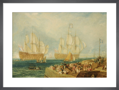 Plymouth Harbour: Towing In by Joseph Mallord William Turner
