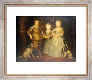 Group Portrait Of The Children Of King Charles I by Sir Anthony Van Dyck