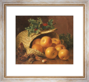 Still Life With Apples, Hazelnuts And Holly, 1898 by Eloise Harriet Stannard