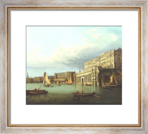 Somerset House And The Adelphi From The River Thames by John Paul