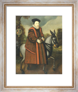 William Cecil, 1st Baron Burghley (1520-1598), Riding A Grey Mule by English School