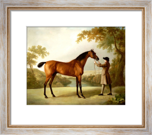 Tristram Shandy, A Bay Racehorse Held By A Groom In An Extensive Landscape, Circa 1760 by George Stubbs