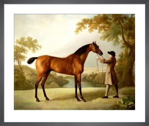 Tristram Shandy - A Bay Racehorse held by a Groom in an Extensive Landscape, c.1760 by George Stubbs