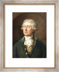 Portrait Of The Artist, Bust Length In A Green Coat And White Stock by Thomas Gainsborough
