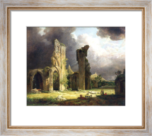 Glastonbury Abbey With The Tor Beyond by George Arnald