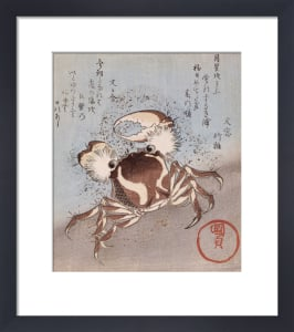 A Crab On The Seashore, Kakuban by Utagawa Kunisada