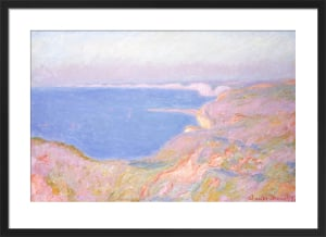 On the Cliffs near Dieppe, Sunset, 1897 by Claude Monet