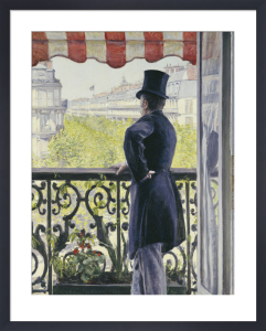 Man on a Balcony, Boulevard Haussmann, 1880 by Gustave Caillebotte