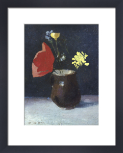 A Pitcher of Flowers by Odilon Redon