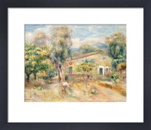 Collettes Farmhouse, Cagnes, 1910 by Pierre Auguste Renoir